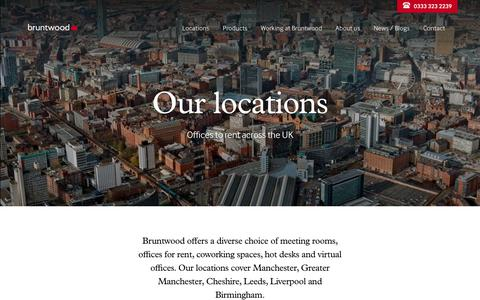 Screenshot of Locations Page bruntwood.co.uk - Our Locations, Workspace, Retail & Meeting Rooms | Bruntwood - captured Nov. 6, 2018