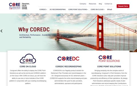Screenshot of Home Page Privacy Page coreretirementsolutions.com - CORE Retirement Technology Solutions | 401k Record Keeping System - captured Nov. 11, 2018