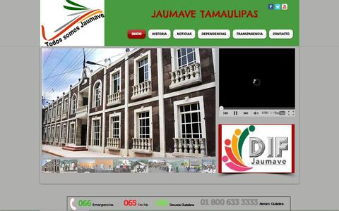 Screenshot of Home Page jaumave.gob.mx - presidencia - captured Oct. 10, 2015