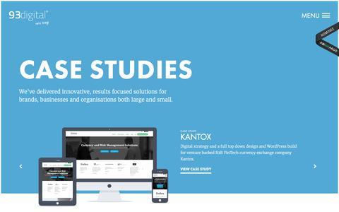 Screenshot of Case Studies Page 93digital.co.uk - Case Studies - London WordPress Web Design Agency - 93digital - captured Aug. 17, 2016