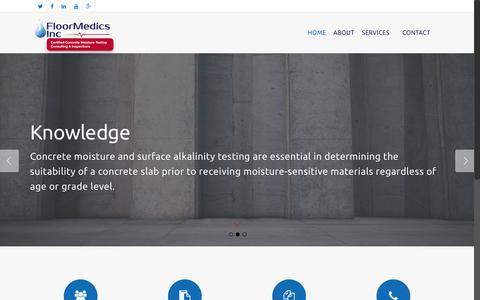 Screenshot of Home Page floormedics.com - Home - FloorMedic's - captured June 17, 2015