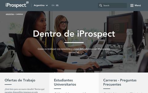 Screenshot of Jobs Page iprospect.com - iProspect Argentina - captured Nov. 26, 2016
