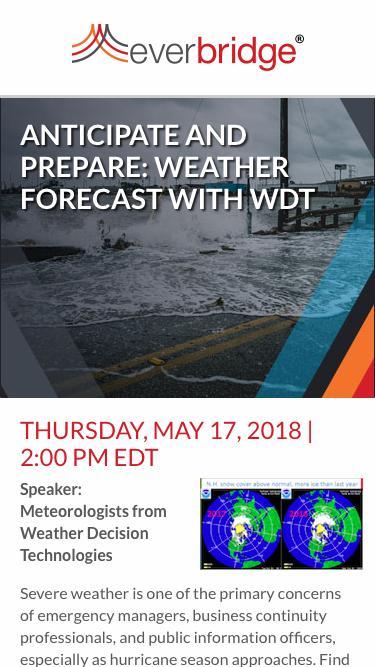 WDT Weather Forecast: Anticipate and Prepare