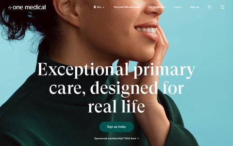 Screenshot of Home Page onemedical.com - Exceptional Primary Care - Find a Doctor Near You | One Medical - captured Dec. 5, 2018