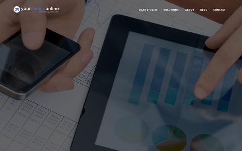 Screenshot of Home Page yourdesignonline.com - Home - YDO   Website Design and Custom Web Development - captured June 25, 2016