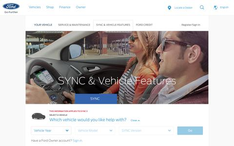 SYNC® Help & Vehicle How To's  | Official Ford Owner Site