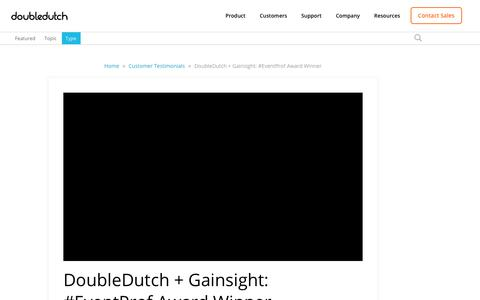 Screenshot of Testimonials Page doubledutch.me - DoubleDutch + Gainsight: #EventProf Award Winner - captured April 12, 2018