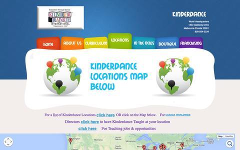 Screenshot of Locations Page kinderdance.com - Kinderdance Locations | Kinderdance Classes - captured Oct. 6, 2014