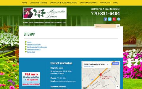 Screenshot of Site Map Page magnolialawn.com - Site Map - captured Feb. 4, 2016