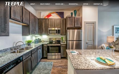 Screenshot of Home Page teeplepartners.com - Home 1 - Teeple Partners - captured Oct. 20, 2018