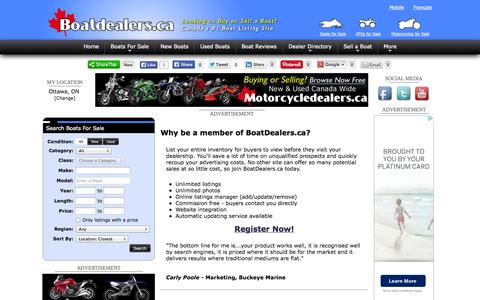 Screenshot of Signup Page boatdealers.ca - Dealer / Broker Membership - BoatDealers.ca - captured Sept. 19, 2014