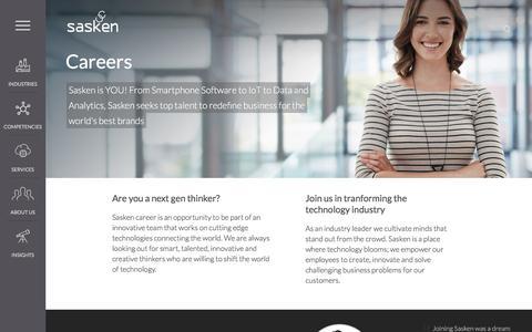 Screenshot of Jobs Page sasken.com - Careers   Sasken Communication Technologies Ltd. - captured Nov. 19, 2016
