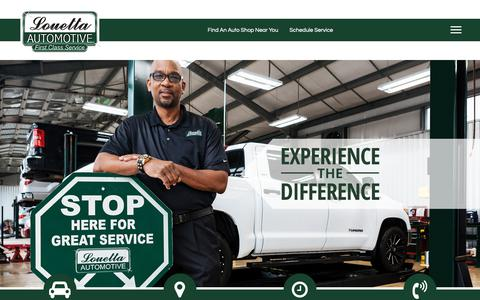 Screenshot of Home Page louettaautomotive.com - ⭐⭐⭐⭐⭐ Auto Repair Shops in Cypress TX | Oil Changes, Brake Service & More! - captured Nov. 5, 2018