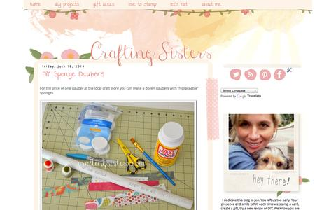 Screenshot of Home Page craftingsisters.com - Crafting Sisters - captured Sept. 30, 2014