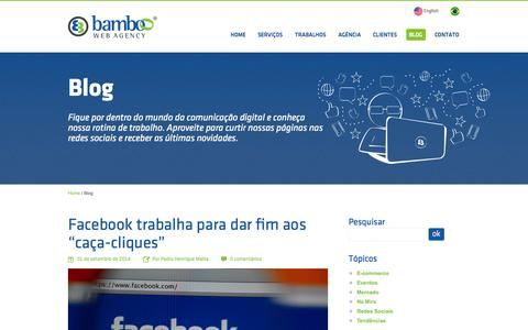 Screenshot of Blog agenciabamboo.com.br - Blog  - Bamboo Web Agency - captured Oct. 5, 2014