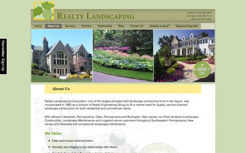 Screenshot of About Page realtylandscaping.com - Landscape Design, Construction, and Maintenance Services - captured Oct. 20, 2018