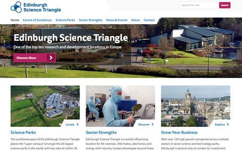 Screenshot of Site Map Page edinburghsciencetriangle.com - Science and technology in Edinburgh, Scotland, UK | Invest Edinburgh - captured Sept. 29, 2014
