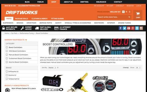 Screenshot of driftworks.com - Boost Controllers by Driftworks.com, the Boost Controllers experts. - captured March 19, 2016
