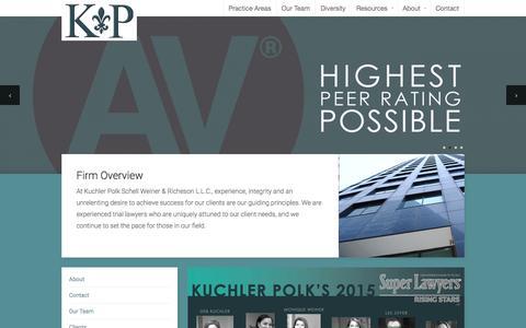 Screenshot of Home Page kuchlerpolk.com - Kuchler Polk   Law Firm - captured Jan. 25, 2015