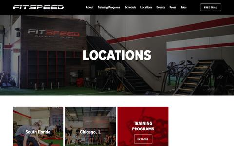 Screenshot of Locations Page fit-speed.com - Locations - FitSpeed - captured Oct. 10, 2018
