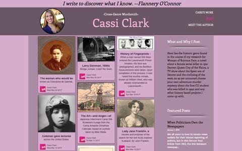 Screenshot of Blog cassiclark.com - Historical Research Gems - captured March 23, 2017