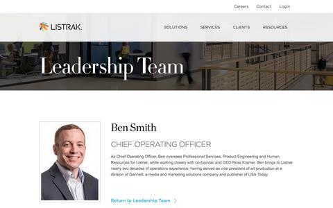 Ben Smith   Leadership Team   Listrak