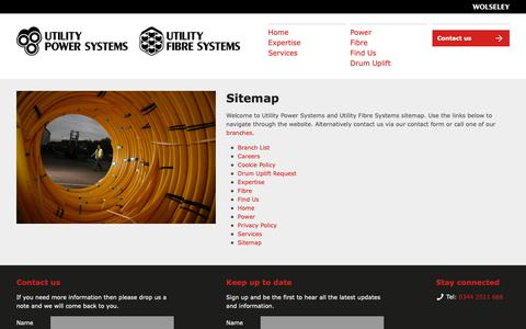 Screenshot of Site Map Page utilitypowersystems.co.uk - Sitemap - Utility Power Systems - captured Oct. 20, 2018