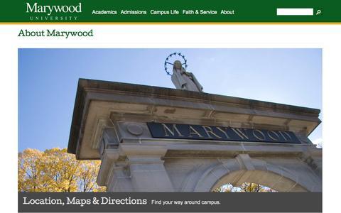 Screenshot of About Page marywood.edu - About Marywood -  Marywood University - captured Oct. 27, 2014