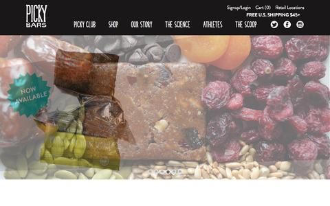 Screenshot of Home Page pickybars.com - Great Tasting, Healthy Protein Bars From Real Food | Picky Bars - captured Nov. 6, 2016