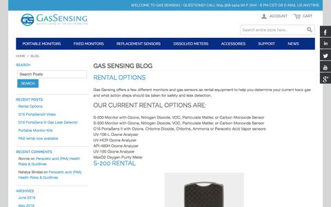 Screenshot of Press Page gas-sensing.com - Gas Sensing Blog  - - captured July 8, 2018