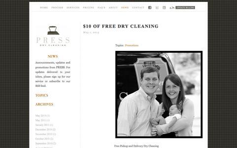 Screenshot of Press Page pressatlanta.com - News — Press Cleaners - captured Nov. 11, 2016
