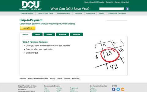 Skip A Loan Payment | DCU | Massachusetts | New Hampshire