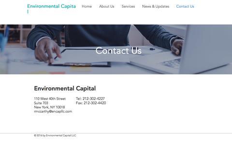 Screenshot of Contact Page encapllc.com - encap | Contact Us - captured July 5, 2017