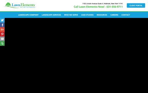 Screenshot of Testimonials Page lawnelements.com - Landscaping Testimonials | Lawn Elements - captured Sept. 27, 2018