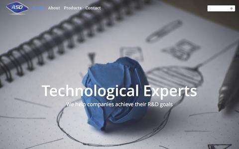 Screenshot of Home Page asd-tech.com - A.S.D - Alexander Schwartz Developments - captured Oct. 4, 2017