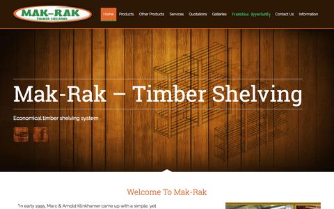 Screenshot of Home Page makrak.co.za - Mak-Rak - - captured Sept. 16, 2015