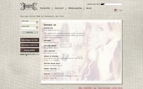 Screenshot of Contact Page mysuites.net - MySuitesContact us - MySuites - captured Oct. 26, 2014