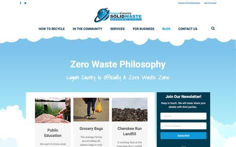 Screenshot of Blog logancountyrecycles.com - Blog - Logan County Solid Waste Management - captured Sept. 1, 2017
