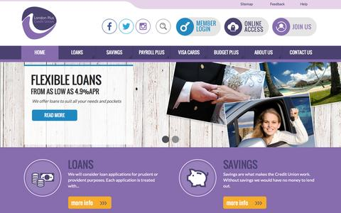 Screenshot of Home Page londonpluscu.co.uk - London Plus Credit Union - captured Nov. 13, 2016