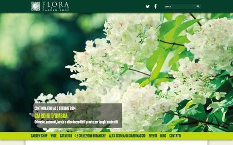 Screenshot of Home Page flora2000.it - Progettazione giardini Bologna - Realizzazione giardini Bologna - Flora 2000 - captured Oct. 5, 2014