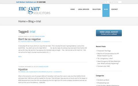 Screenshot of Trial Page mcgarrsolicitors.ie - trial Archives - McGarr Solicitors - Dublin Solicitors Ireland - captured Sept. 30, 2014