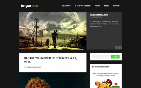 Screenshot of Blog imgur.com - The Imgur Blog - captured Dec. 13, 2015