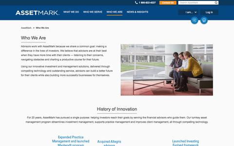 Screenshot of Team Page assetmark.com - AssetMark - Who we are - captured July 26, 2016