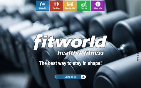 Screenshot of Home Page fitworldfitness.com.au - FitWorld Fitness | Get in shape, your way - captured Oct. 21, 2018