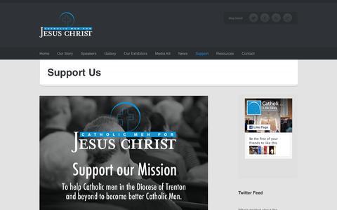 Screenshot of Support Page catholicmenforjesuschrist.org - Support Us | Catholic Men For Jesus Christ - captured Dec. 7, 2015