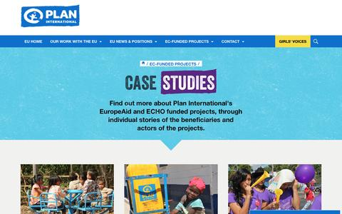 Screenshot of Case Studies Page plan-international.org - Case studies | Plan International - captured Dec. 29, 2016