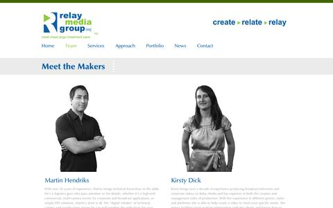 Screenshot of Team Page relaymediagroup.ca - Meet the Makers | Relay Media Group - captured Oct. 7, 2014