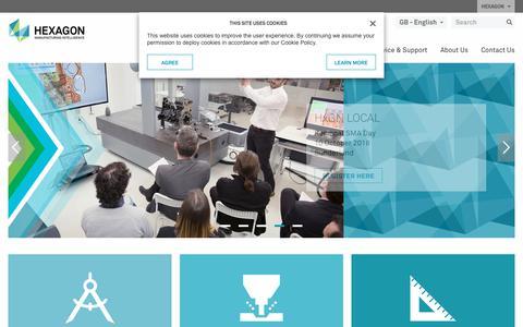 Screenshot of hexagonmi.com - Hexagon Manufacturing Intelligence - helping industrial manufacturers drive productivity through quality | Hexagon Manufacturing Intelligence - captured Sept. 25, 2018