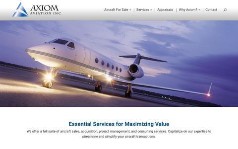 Screenshot of Services Page axiomav.com - Services - Axiom Aviation - captured Nov. 13, 2018