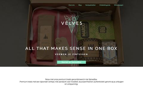 Screenshot of Home Page velves.nl - Bestel je SenseBox en relax - velves.nl - captured Oct. 7, 2014